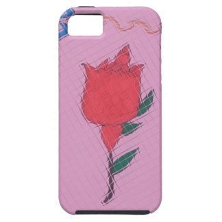Special Rose Tile Art Graphic Design iPhone SE/5/5s Case