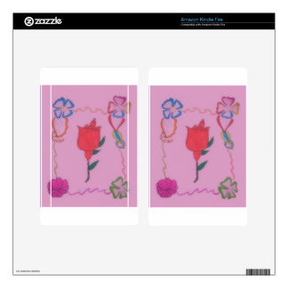 Special Rose Tile Art Graphic Design Kindle Fire Decal