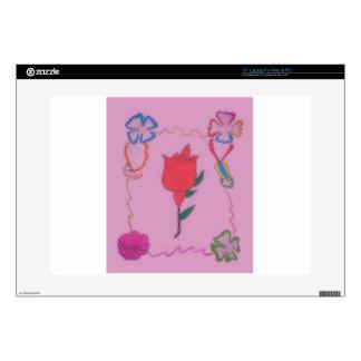 Special Rose Tile Art Graphic Design Laptop Skin