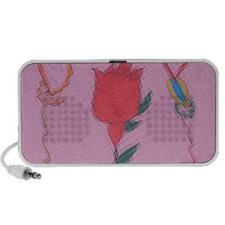 Special Rose Tile Art Graphic Design Travel Speakers