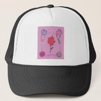 Special Rose Tile Art Graphic Design Trucker Hat