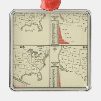 special school's statistics metal ornament