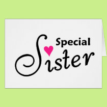 Special Sister Card