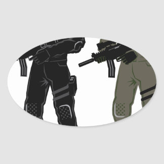 Special Soldier Oval Sticker