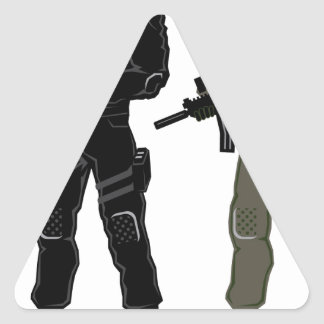Special Soldier Triangle Sticker