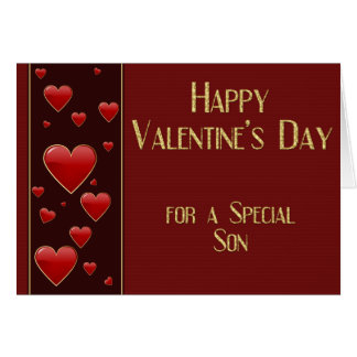Special Son Masculine Valentine Card