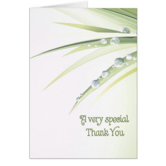 Special Thank You Greeting Card