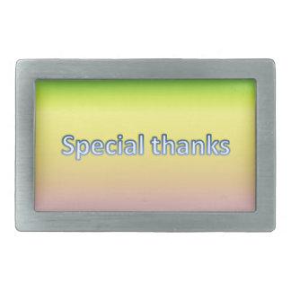 special thanks rectangular belt buckle