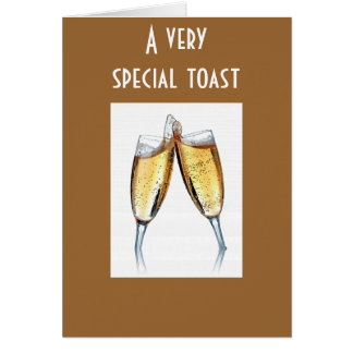 SPECIAL TOAST TO SPECIAL PERSON GREETING CARD