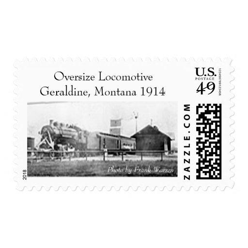 Special Train in Geraldine Postage Stamp