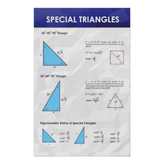 Special Triangles - Math Poster