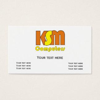 Special unique Logo KSM Business Card Template