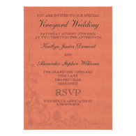 Special Vineyard Wedding Invitations
