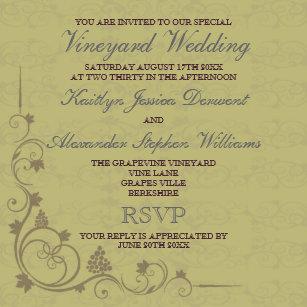 Grape Vine Wedding Invitations