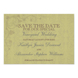 Special Vineyard Wedding Save The Date Card