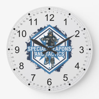 Special Weapons And Tactics Large Clock
