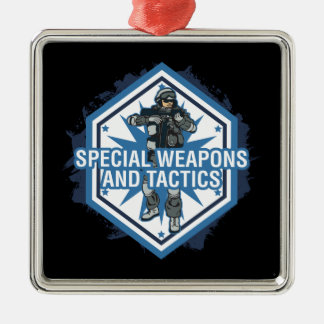 Special Weapons And Tactics Metal Ornament