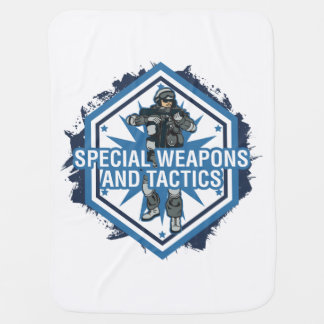 Special Weapons And Tactics Stroller Blanket