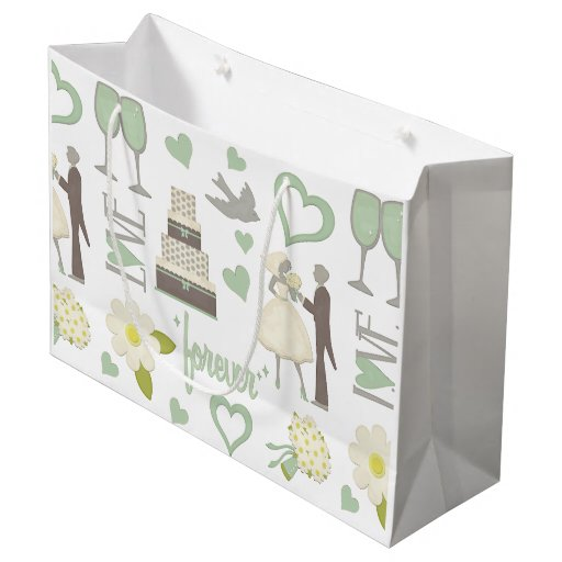 Wedding Day Gift Bags : Special Wedding Day Images Large Gift Bag Zazzle