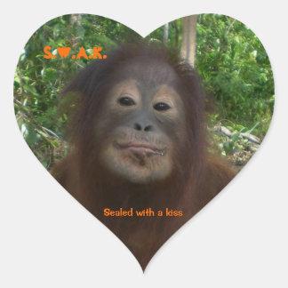 Special Wildlife Kisses Sticker