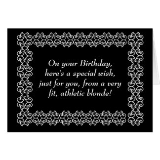Special Wish from Athletic Blonde Greeting Card