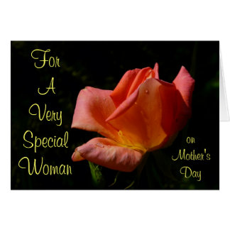 Special Woman Mother's Day Rose Card