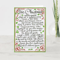 Special Words for Christmas Card