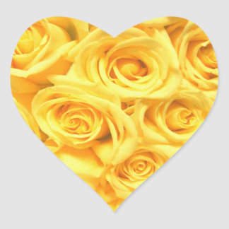 Special Yellow Roses Heart Sticker