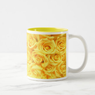 Special Yellow Roses Two-Tone Coffee Mug
