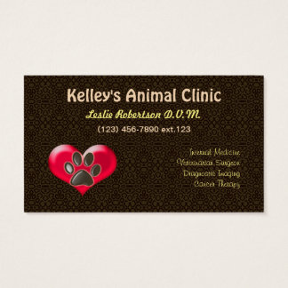 Specialist/Animal Services Doctor U pick Color Business Card