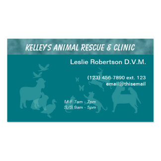 Specialist/ Doctor Animal Services U-pick Color Business Card