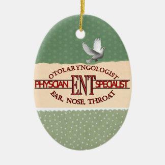 SPECIALIST ENT Otolaryngology Ear Nose Throat LOGO Ceramic Ornament