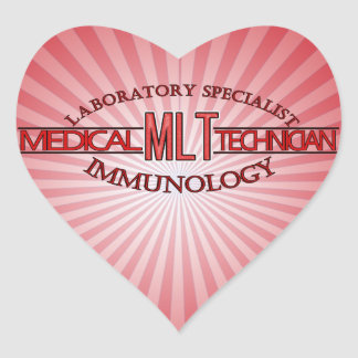 SPECIALIST IMMUNOLOGY MLT MEDICAL LABORATORY HEART STICKER