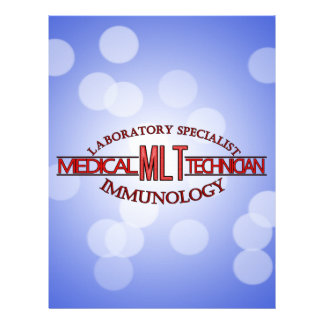 SPECIALIST IMMUNOLOGY MLT MEDICAL LABORATORY PERSONALIZED LETTERHEAD