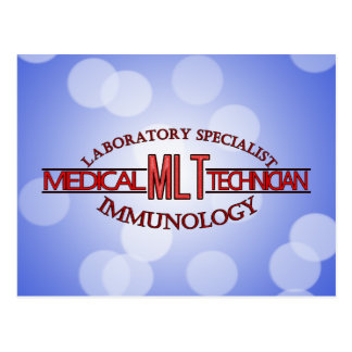 SPECIALIST IMMUNOLOGY MLT MEDICAL LABORATORY POSTCARD