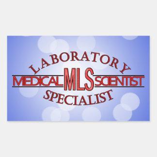 SPECIALIST LAB MLS MEDICAL LABORATORY SCIENTIST RECTANGULAR STICKER