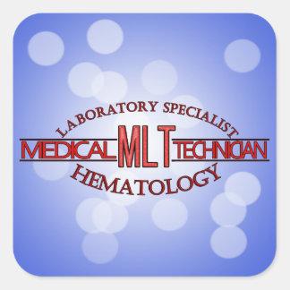 SPECIALIST LAB MLT HEMATOLOGY MEDICAL LABORATORY SQUARE STICKER