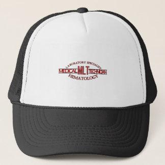 SPECIALIST LAB MLT HEMATOLOGY MEDICAL LABORATORY TRUCKER HAT