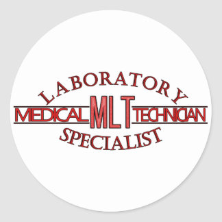 SPECIALIST LAB MLT MEDICAL LABORATORY TECHNICIAN CLASSIC ROUND STICKER