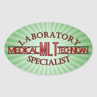 SPECIALIST LAB MLT MEDICAL LABORATORY TECHNICIAN OVAL STICKER