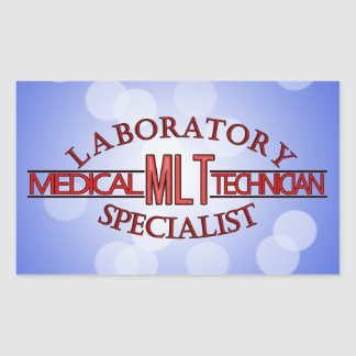 SPECIALIST LAB MLT MEDICAL LABORATORY TECHNICIAN RECTANGULAR STICKER