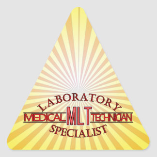 SPECIALIST LAB MLT MEDICAL LABORATORY TECHNICIAN TRIANGLE STICKER