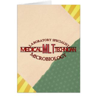 SPECIALIST LAB MLT MICROBIOLOGY MEDICAL LAB TECH GREETING CARD