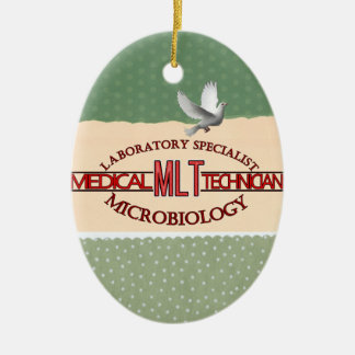 SPECIALIST LAB MLT MICROBIOLOGY MEDICAL LAB TECH CERAMIC ORNAMENT