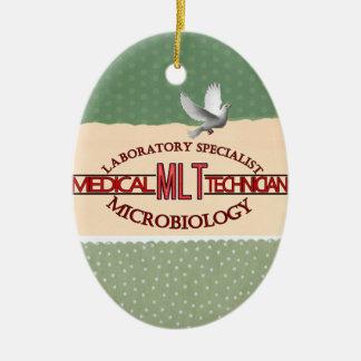 SPECIALIST LAB MLT MICROBIOLOGY MEDICAL LAB TECH CERAMIC ORNAMENT