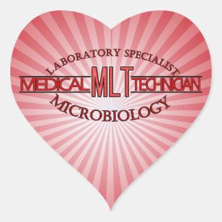 SPECIALIST LAB MLT MICROBIOLOGY MEDICAL LAB TECH HEART STICKER