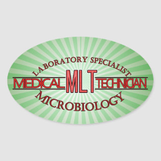 SPECIALIST LAB MLT MICROBIOLOGY MEDICAL LAB TECH OVAL STICKER