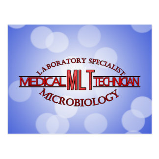 SPECIALIST LAB MLT MICROBIOLOGY MEDICAL LAB TECH POSTCARD