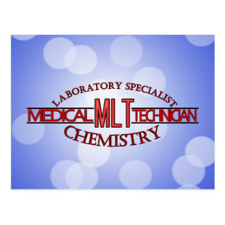 SPECIALIST  MLT CHEMISTRY MEDICAL LABORATORY TECH POSTCARD