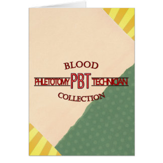 SPECIALIST PBT PHLEBOTOMY TECH BLOOD COLLECTION CARD
